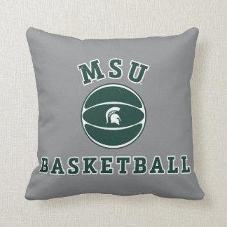 Universidad de estado del baloncesto el | Michigan Cojín Decorativo