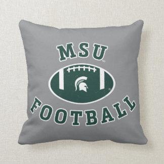 Universidad de estado del fútbol el | Michigan de Cojín Decorativo