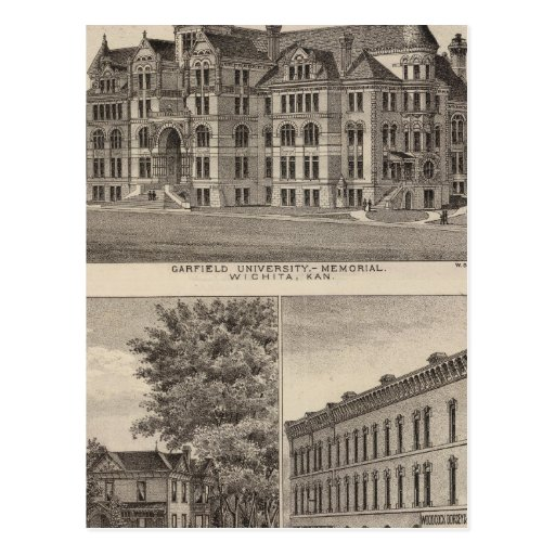 Universidad de Garfield, Kansas Tarjeta Postal