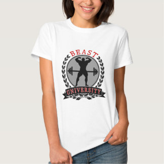 Universidad de la bestia del culturismo camiseta