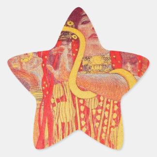 Universidad de las pinturas del techo de Viena Pegatina Forma De Estrella Personalizada