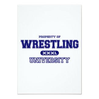 Universidad de lucha invitación 12,7 x 17,8 cm