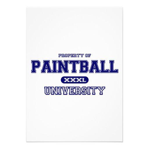 Universidad de Paintball Invitación Personalizada