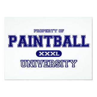 Universidad de Paintball Invitación 12,7 X 17,8 Cm