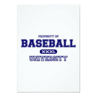 Universidad del béisbol invitación 12,7 x 17,8 cm