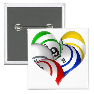 Universidad del botón del corazón del bingo del bi