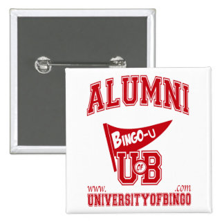 Universidad del botón del logotipo del bingo pins