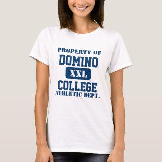 Universidad del dominó camiseta