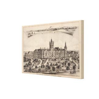 Universidad del EL Dorado, Kansas Impresión En Tela