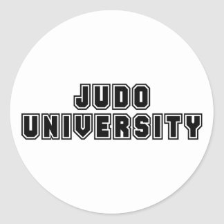Universidad del judo pegatina redonda