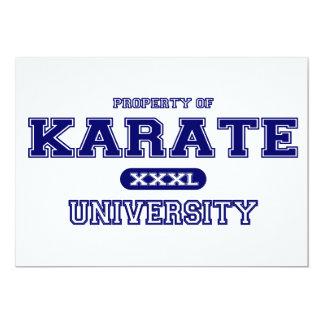 Universidad del karate invitación 12,7 x 17,8 cm