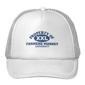 Universidad del mercado de los granjeros gorros