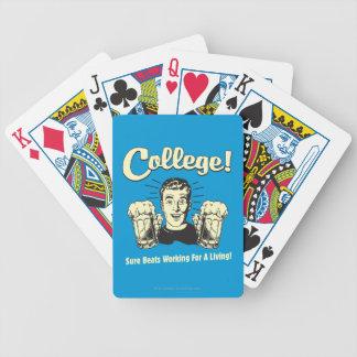 Universidad: Golpes seguros que trabajan la vida Baraja Cartas De Poker