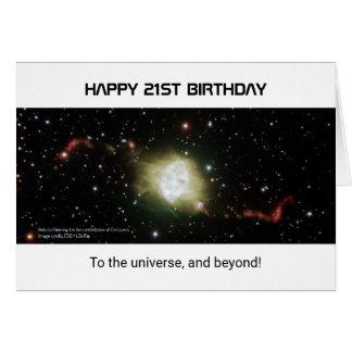 universo de encargo de la nebulosa del texto del tarjeta