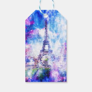 Universo París del arco iris Etiquetas Para Regalos