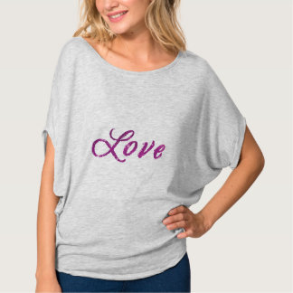 """Universo rosado del """"amor"""" y púrpura abstracto camiseta"""