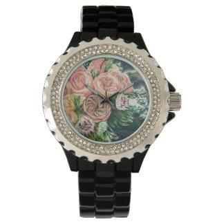 Uno de un reloj bueno del ramo floral