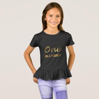 Uno en millón de tipografías elegantes de Brown Camiseta