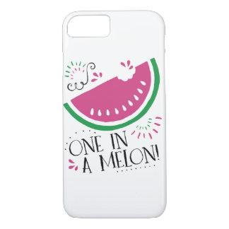Uno en un caso del iPhone de la sandía del melón Funda iPhone 7