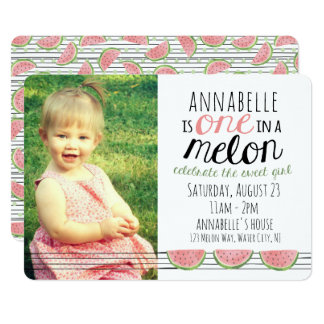 Uno en un melón, primera invitación del cumpleaños