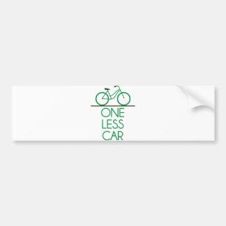 Uno menos bicicleta amistosa de la tierra del pegatina para coche
