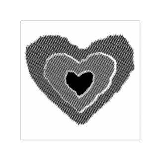 Uno mismo de fusión gótico del corazón del amor sello automático