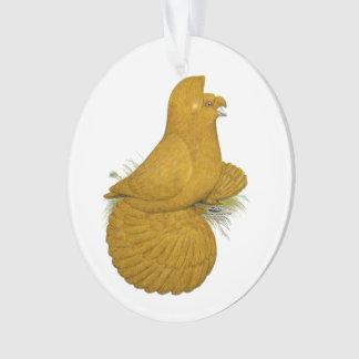 Uno mismo del amarillo de la paloma del adorno