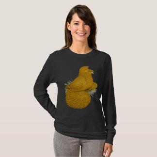Uno mismo del amarillo de la paloma del camiseta