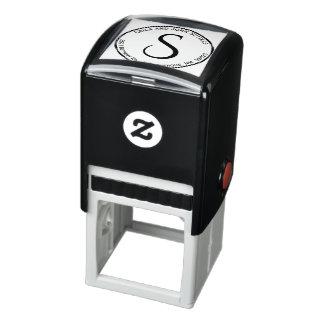Uno mismo del monograma del remite del círculo que sello automático