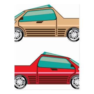 Uno mismo del vector del coche del concepto que postal