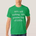 uno mismo que detesta, miedo auténtico del 90% del camiseta