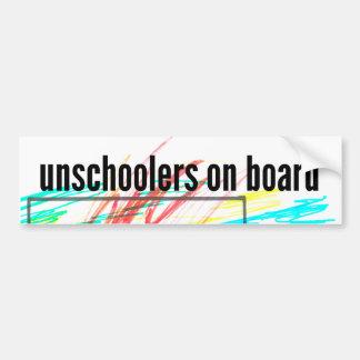 Unschoolers a bordo pegatina para coche