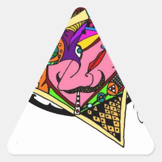 UP.jpg ATORNILLADO Pegatina Triangular