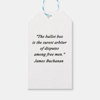 Urna - James Buchanan Etiquetas Para Regalos
