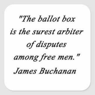 Urna - James Buchanan Pegatina Cuadrada