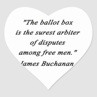 Urna - James Buchanan Pegatina En Forma De Corazón