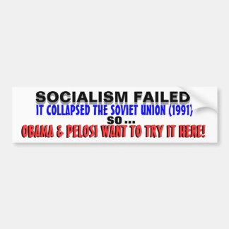 ¡URSS DESTRUIDA socialismo así que Obama LO QUIERE Pegatina De Parachoque
