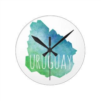 Uruguay Reloj Redondo Mediano
