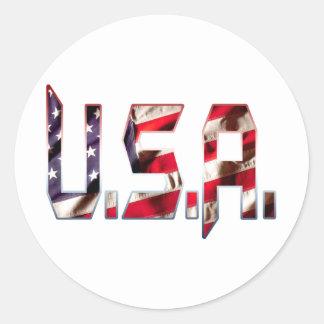 USA1 PEGATINA REDONDA