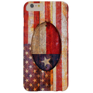 Usa and Texas flag. Funda Barely There iPhone 6 Plus