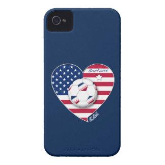 USA Soccer National Team Fútbol de Estados Unidos iPhone 4 Case-Mate Cárcasas