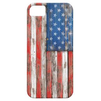 USA Vintage Wood Funda Para iPhone SE/5/5s