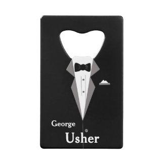 Usher personaliza el abrebotellas del boda