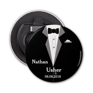 Usher personaliza el abrebotellas del boda abrebotellas redondo