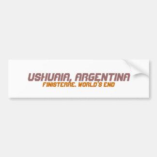 Ushuaia, la Argentina. Finisterre. El extremo del  Pegatina Para Coche