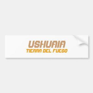 Ushuaia, la Argentina. Tierra del Fuego Etiqueta De Parachoque