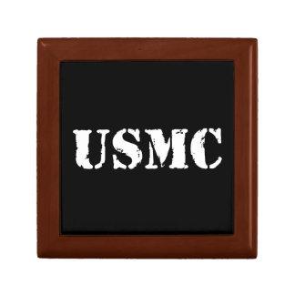 USMC [texto de la plantilla] Joyero Cuadrado Pequeño
