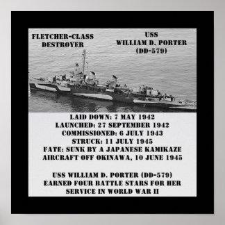 USS Guillermo D. Porter (DD-579) Impresiones