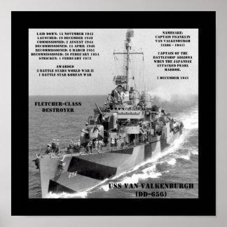 USS Van Valkenburgh (DD-656) Poster