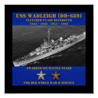 USS Wadleigh (DD-689) Posters